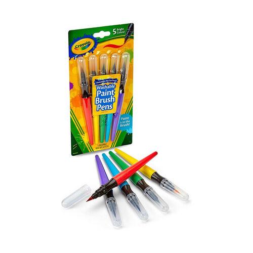 Crayola 5 Ct Paint Brush Pens