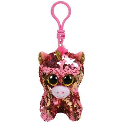 Ty Flippables Sunset Coral Unicorn Sequin Clip