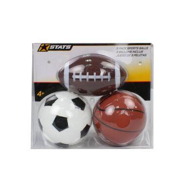 Stats 3 Pack Mini Sports Balls