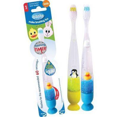 B Brite Brush Right Liquid Flashing Toothbrush:3D Animal