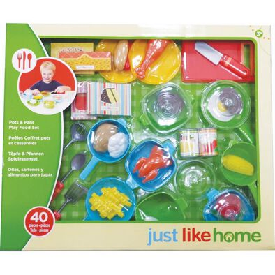 Just Like Home Pots and Pans Playfood Set