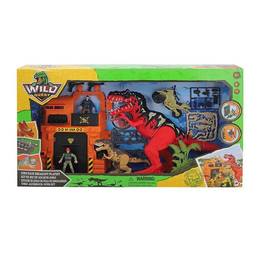 Wild Quest Dino Base Breakout Playset