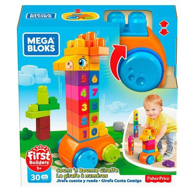 Mega Bloks First Builders Count 'N Bounce Giraffe