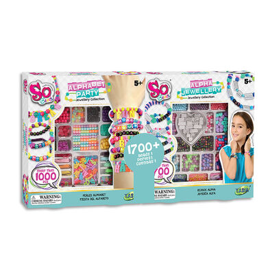 So Beads Alphabet Party Jewellery Collection Bundle Set