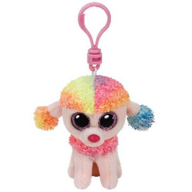 Ty Beanie Boos 5 Inch Clip Rainbow The Multicolored Poodle