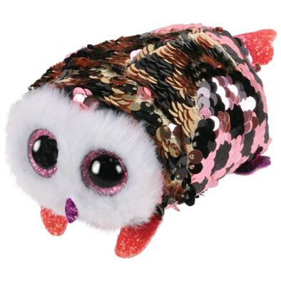 Ty Teeny Tys Checks Sequin Pink/Black Owl
