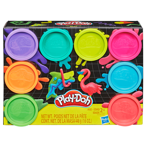 Play-Doh 8 Pack Neon Non-Toxic Modeling Compound