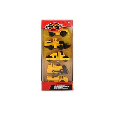 Fast Lane 5 Pack Construction Vehicles - Assorted