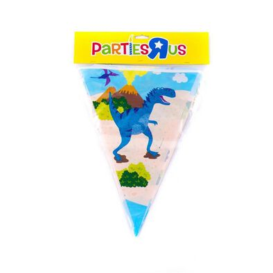 "Parties""R""Us Dinosaur Flag Banner (12 Inch)"