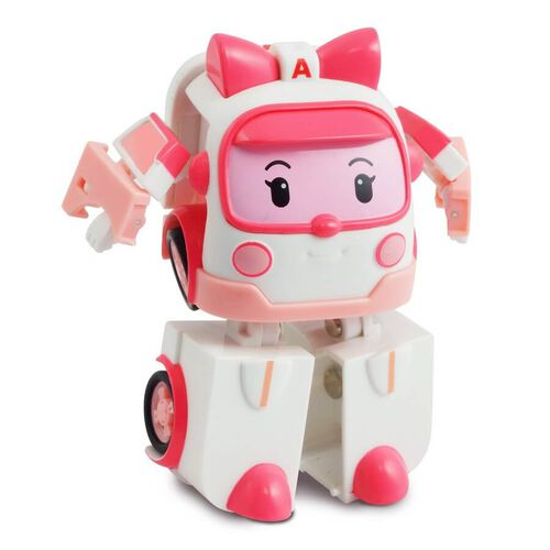 Robocar Poli Mini Transforming Robot Amber