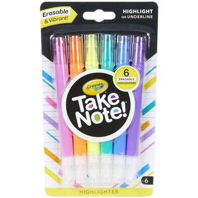 Crayola 6 Colours Highlighter Erasable
