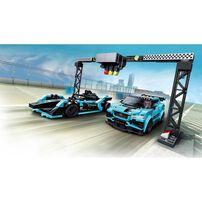 LEGO Speed Champions Formula E Panasonic Jaguar Racing GEN2 car and Jaguar I-PACE eTROPHY 76898
