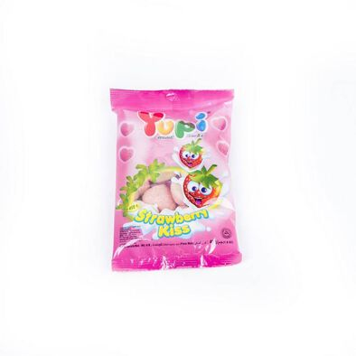 Yupi Gummy Candies - Strawberry Kiss 45G