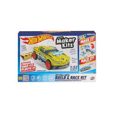 Hot Wheels Maker Kitz Single Car Yellow - Assorted