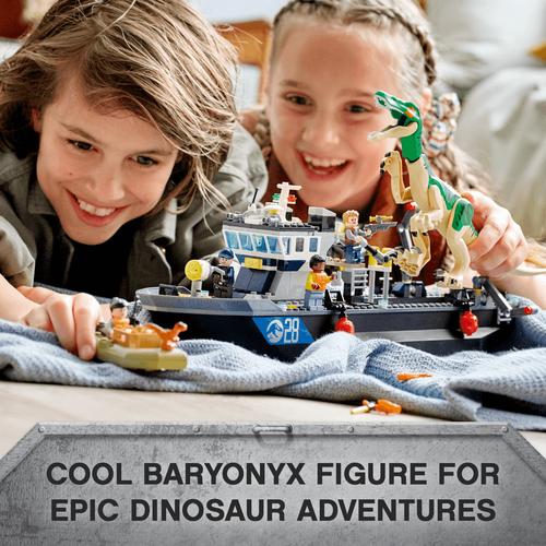 LEGO Jurassic World Baryonyx Dinosaur Boat Escape 76942