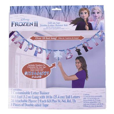 Disney Frozen 2 Jumbo Age and Letter Banner