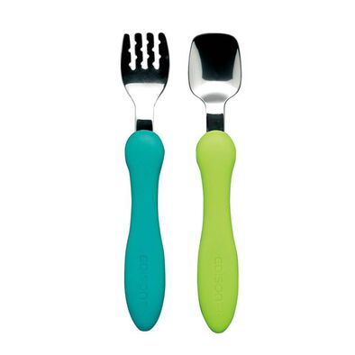 Edison Mama Fork and Spoon Mini (Mint and Lime)