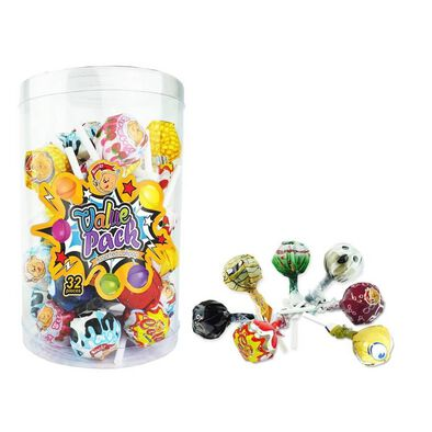 Beardy Value Pack Lollipop 32 Pieces - Assorted