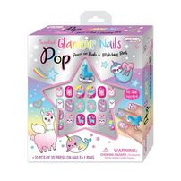 Hot Focus Pop Glamour Nails