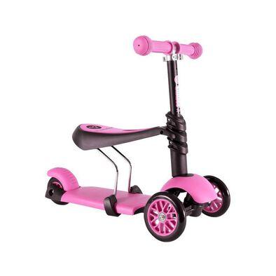 Yvolution Y Glider 3 In 1 (Black/Pink)