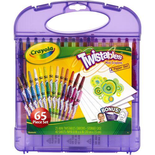 Crayola Mini Twistables Crayon and Paper Set