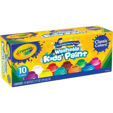 Crayola 10 Colours 2oz Washable Kids Paint