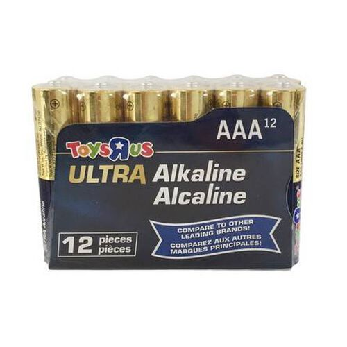 """Toys""""R""""Us Ultra Alkaline AAA 12 Pieces"""
