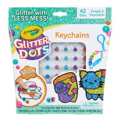 Crayola Glitter Dots Keychains