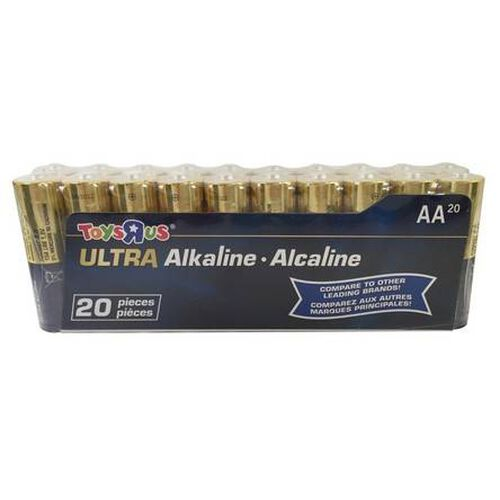 "Toys""R""Us Ultra Alkaline AA Battery Pack 20 Pieces"