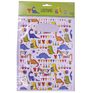 Amscan Party Plastic Loot Bag 6 Pieces Dinosaurs