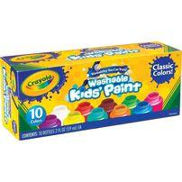 Crayola 10 Colours 2oz Washable Kids Paint