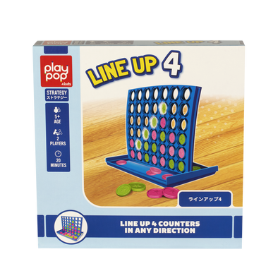Play Pop Line Up 4 Strategy Game