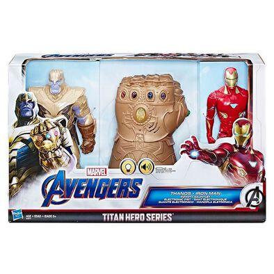 Marvel Avengers Titan Hero Series Thanos and Iron Man