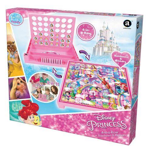 Disney Princess 4-In-A-Row And Rainbows and Ribbons