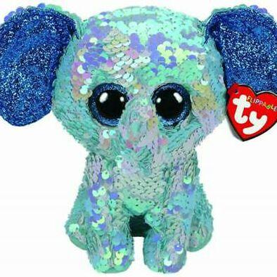 TY Flippables 13 Inch Stuart Blue Elephant