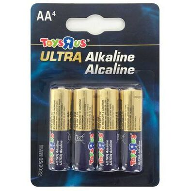 "Toys""R""Us Ultra Alkaline Aa 4 Pieces"