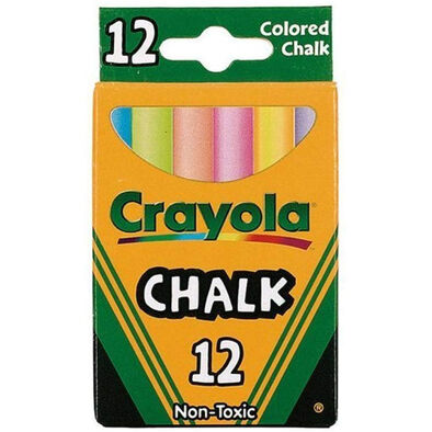 Crayola 12 Ct Multicoloured Chalk