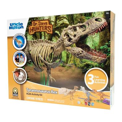Uncle Milton Dr. Steve Hunters Tyrannosaurus Rex Multi-Activity Kit
