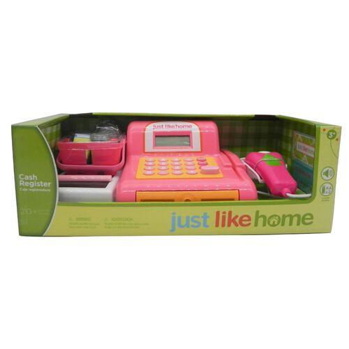 Just Like Home Cash Register - Pink