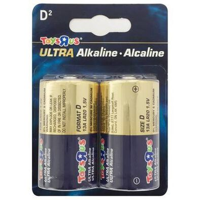 "Toys""R""Us Ultra Alkaline Size D 2's"