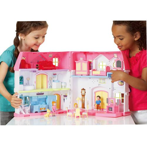 You & Me Happy Family Manor with Dolls and Furniture