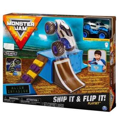 Monster Jam 1:64 Basic Stunt Playset - Assorted