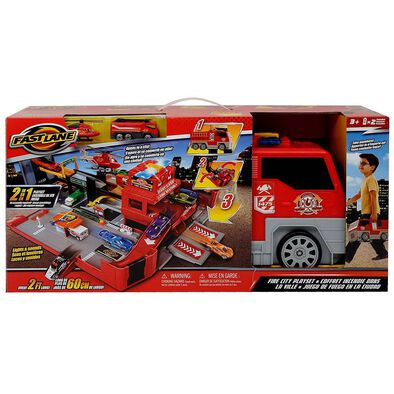 Fast Lane 2in1 Fire City Playset