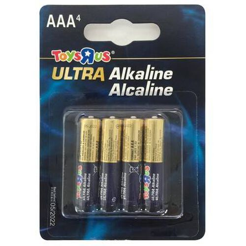 """Toys""""R""""Us Ultra Alkaline Aaa 4 Pieces"""