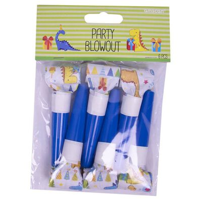 Amscan Party Blowouts 6 Pieces Dinosaurs