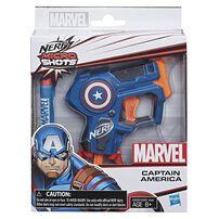 NERF Marvel Microshots (Iron Man/Spider-Man/Captain America) - Assorted