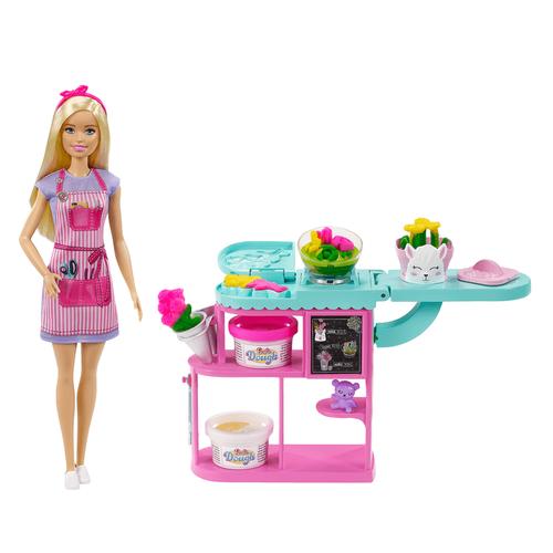 Barbie Flower Shop Owner Playset