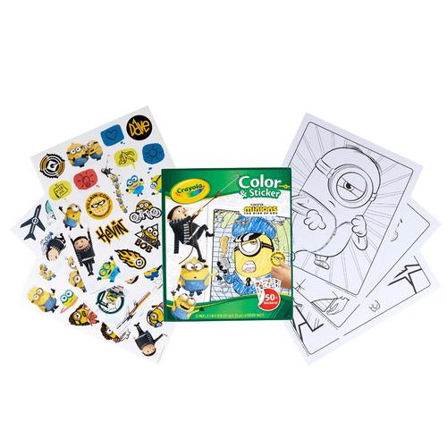 Crayola Color & Sticker Book Minion 2