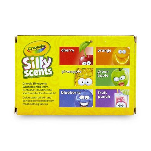Crayola Scents 6 Colours 2oz Kids Paint Washable