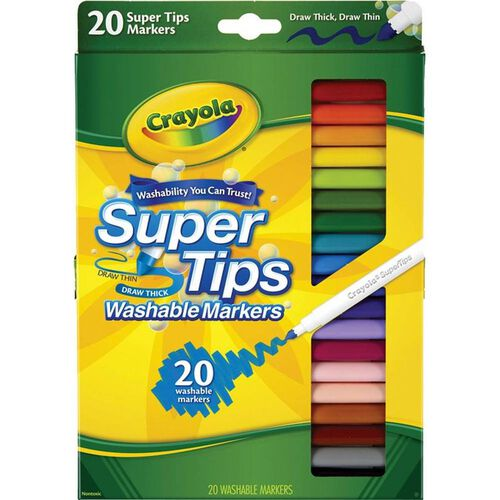Crayola 20 Colours Super Tips